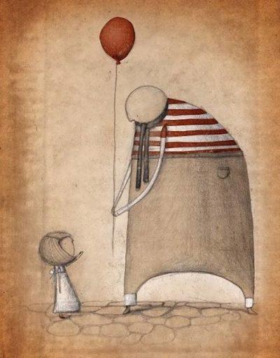 Воздушные шарики отображены в искусстве